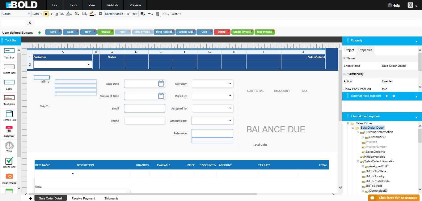 Online Invoice Creator Tool InBold Solutions - Online invoicing software